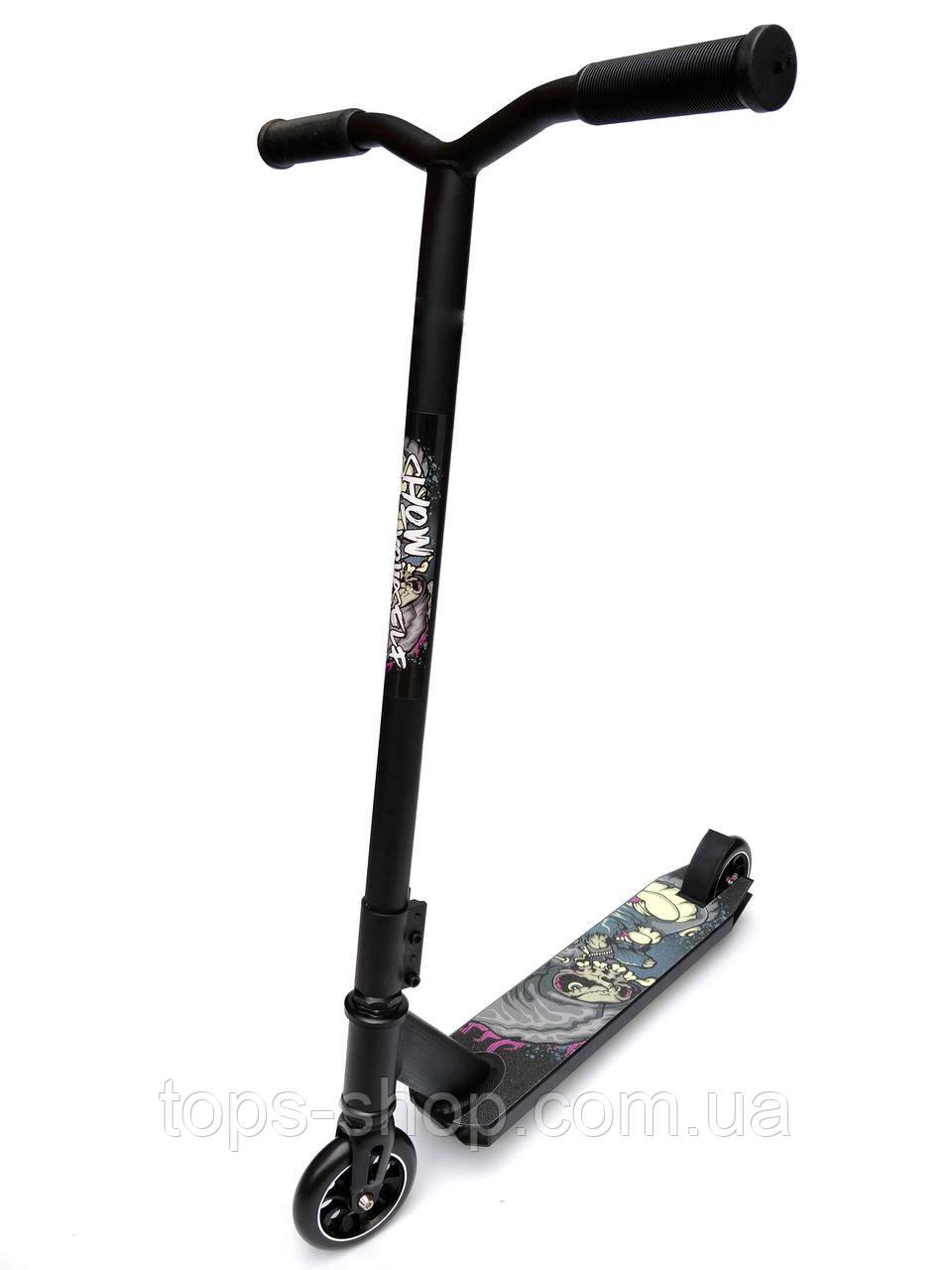 Трюковый Самокат от Scooter – MICMAX D-60, 110 мм Черный , колеса алюминий/полиуретан