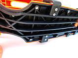 САМОКАТ-БЕГОВЕЛ 3 в 1 BEST SCOOTER MINI, светяшиеся колеса, сиденье, корзина СИНИЙ, фото 3