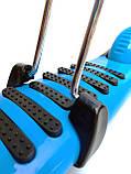 Самокат Беговел 3 в 1 Scooter сонечко, з не ковзної платформою, сидінням, кошиком, Синій, фото 3