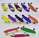 Скейт Penny Board, с широкими светящимися колесами Пенни борд, детский , от 4 лет, Цвет Оранжевый, фото 6