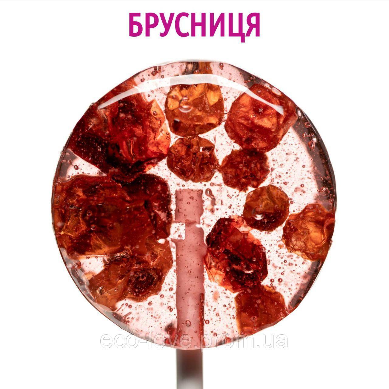 Натуральный леденец с клубникой и брусникой, 10 г, TM GOGODZA
