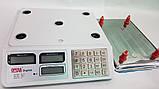 Весы торговые с аккамулятором и металическими клавишами Opera OP-218 50 кг, напольные весы, фото 4