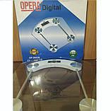 Электронные напольные весы, стеклянные, до 180 кг Opera OP-200B, фото 3