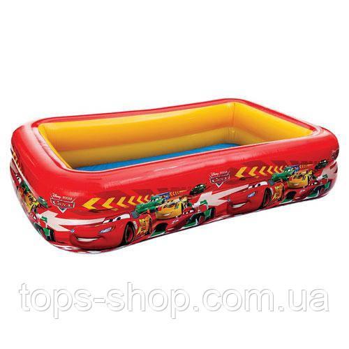 """Детский надувной бассейн Intex, 57478 """"Тачки"""" винил, рем комплект, размером 262х175х56см, 749л, от 3-х лет"""
