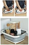 Доска-миска, доска разделочная трансформер для кухни Chopper, складная 3 в 1, фото 4
