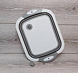 Доска-миска, доска разделочная трансформер для кухни Chopper, складная 3 в 1, фото 7