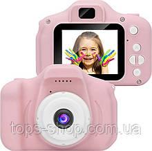 Дитячий цифровий фотоапарат з іграми Gm14, дитяча камера ( рожевий )