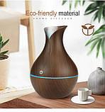Увлажнитель воздуха ночник Ultrasonic Aroma Humidifier c подсветкой 7 цветов, USB Темно-коричневый, фото 3