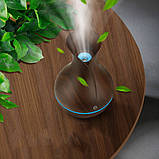 Увлажнитель воздуха ночник Ultrasonic Aroma Humidifier c подсветкой 7 цветов, USB Темно-коричневый, фото 4