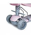Самокат Scooter Smart 5 в 1 с родительской ручкой, со светящимися широкими колесами, пастельно-розовый, фото 4