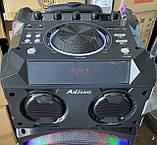 Аккумуляторная колонка чемодан Ailiang UF-1032-DT, беспроводная 10 дюймовая акустика, комбоусилитель, микрофон, фото 2