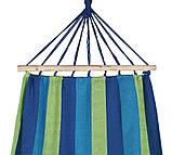 Гамак з великою дерев'яною планкою тканина бавовна для дачі саду відпочинку планка 80 см полотно 200х80 см Синій, фото 8