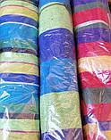 Гамак з великою дерев'яною планкою тканина бавовна для дачі саду відпочинку планка 80 см полотно 200х80 см Синій, фото 10