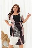 Летнее легкое платье женское большого размера 50,52,54,56, рукав до локтя, фото 2