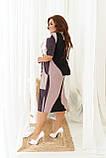 Летнее легкое платье женское большого размера 50,52,54,56, рукав до локтя, фото 3