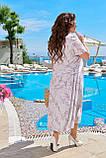 Легке літнє плаття жіноче великого розміру 50,52,54,56, короткий рукав, Колір Світла Бузок, фото 2