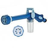 Распылитель воды, насадка на шланг, водяная пушка, водомет с отсеком для моющих средств Ez Jet Water Cannon, фото 5