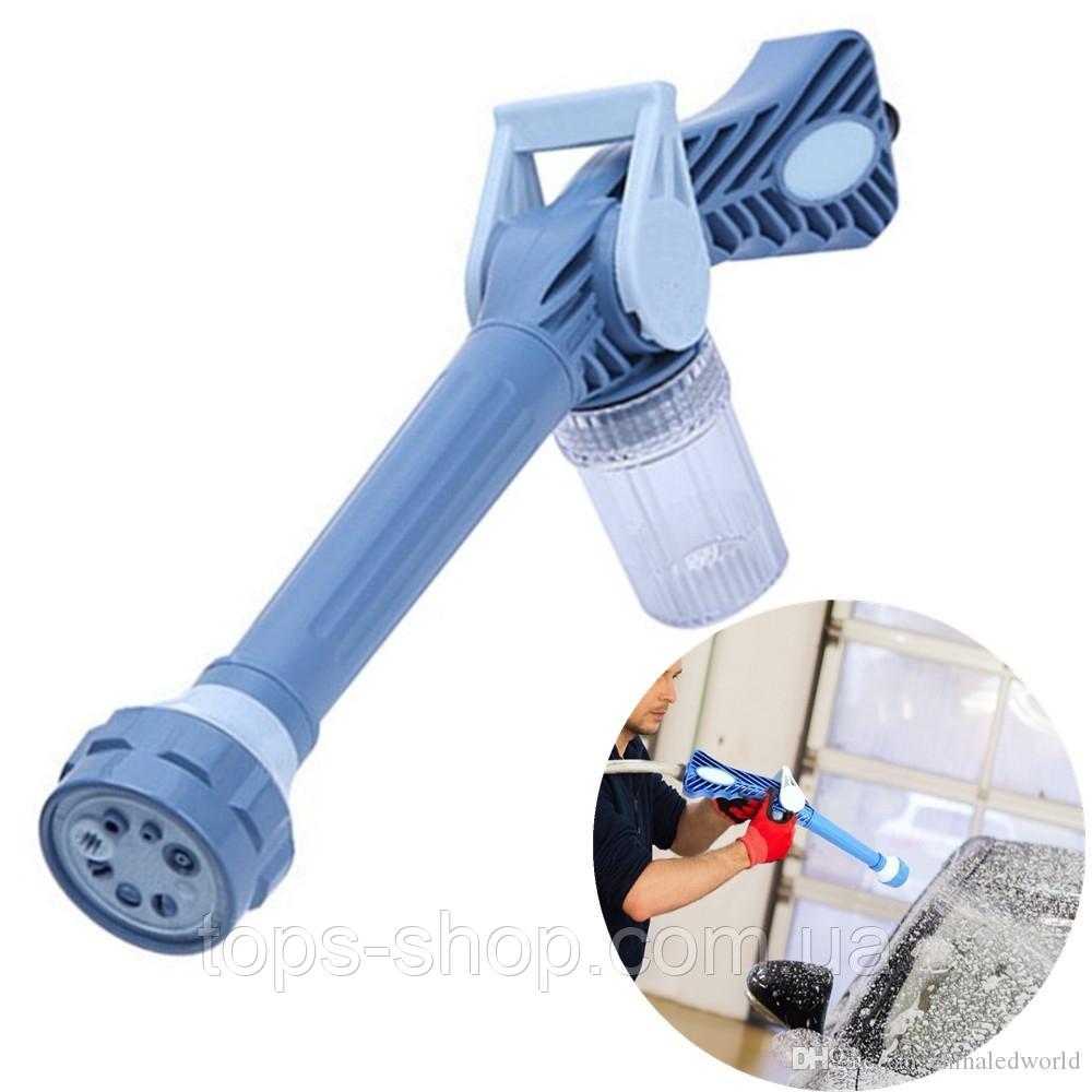 Распылитель воды, насадка на шланг, водяная пушка, водомет с отсеком для моющих средств Ez Jet Water Cannon