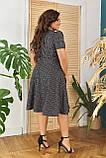 Жіноче літнє плаття великого розміру 48, 50, 52, 54, легке, вільного крою, з змійкою і поясом, Сіре, фото 5