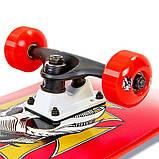 Скейт деревянный, Скейтборд, натуральный канадский клен, для трюков, Red Skull , качество премиум!!!, фото 4