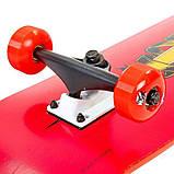 Скейт деревянный, Скейтборд, натуральный канадский клен, для трюков, Red Skull , качество премиум!!!, фото 6
