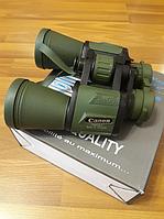 Бинокль водонепроницаемый CANON 20х50 | Бинокуляр, увеличение х20, с чехлом, Зеленый