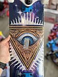 Скейт деревянный, Скейтборд, натуральный канадский клен, для трюков, Fish Skateboards - UFO-EYE, премиум!!!, фото 8