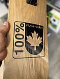 """Скейт деревянный, Скейтборд """" Canada 100 % """" , натуральный канадский клен, дека 79х20 см, супер качество, фото 4"""