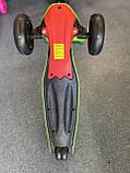 Дитячий триколісний самокат складаний Scooter 1818 зі світними колесами, Рожевий, фото 6