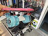 Скейт Penny Board, із широкими світлими колесами Пенні борд, дитячий , від 4 років, Рожевий, фото 6