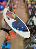 Скейт Penny Board, с широкими светящимися колесами и ручкой, Пенни борд, детский ,от 5 лет, Абстракция, фото 3