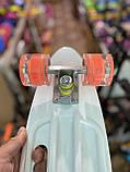 Скейт Penny Board, с широкими светящимися колесами и ручкой, Пенни борд, детский ,от 5 лет, Абстракция, фото 7