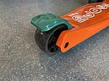 Дитячий триколісний самокат складаний Scooter 2188 зі світними колесами, підсвічуванням і музикою, Помаранчевий, фото 8