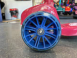 Дитячий триколісний самокат складаний Scooter 2188 зі світними колесами, підсвічуванням і музикою, Малиновий, фото 4