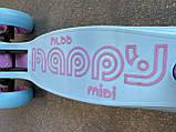 Самокат триколісний складаний Scooter Happy MINI зі світними колесами, Блакитний, фото 6