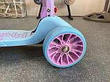 Самокат триколісний складаний Scooter Happy MINI зі світними колесами, Блакитний, фото 9