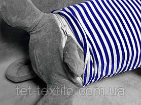 """Мягкая игрушка - подушка с пледом внутри """"Серый кот в синей тельняшке"""", фото 3"""