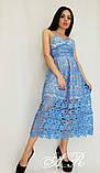 Женское платье миди с кружевом на бретелях, фото 4