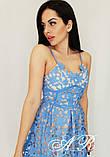 Женское платье миди с кружевом на бретелях, фото 5