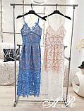 Женское платье миди с кружевом на бретелях, фото 7