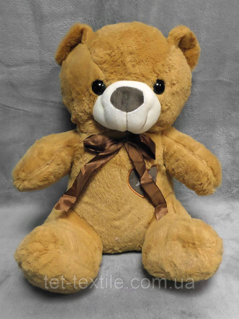 """Мягкая игрушка - подушка с пледом внутри """"Медвежонок"""" рыжий"""