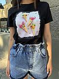 Женские стильные джинсовые шорты с высокой посадкой, фото 2