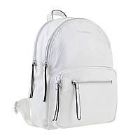 Белый женский рюкзак из экокожи, стильный и модный, фото 1