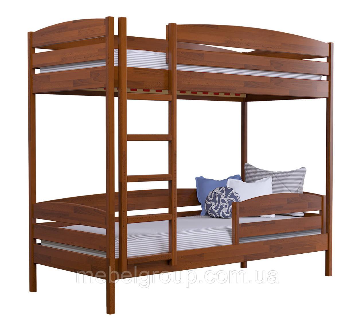 Двоярусне ліжко Дует Плюс 80х190 Щит (Без ящиків + захисний бортик)