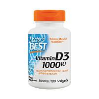 Витамин Д Doctor's BEST Vitamin D3 1000 IU 180 гел капс
