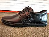 Туфли спортивные кожаные мужские 40 -45 р-р, фото 5