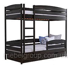 Двухъярусная кровать Дует Плюс Щит, с ящиками масив + защитный бортик, фото 2