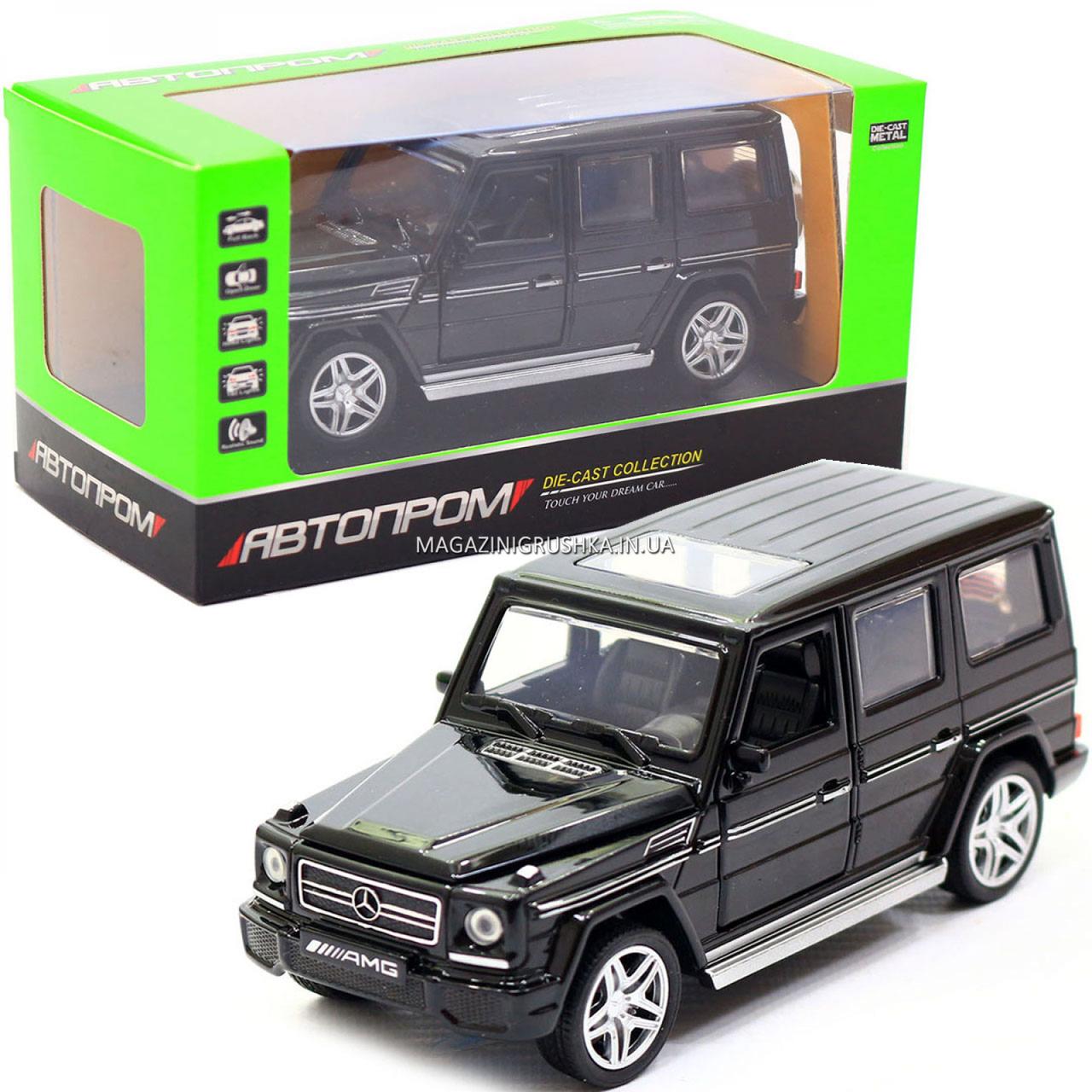 Игрушка машина Автопром Мерседес Бенц (Mercedes-Benz) Чёрный блестящий. Гелендваген (Гелик) (3201G)