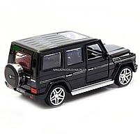 Игрушка машина Автопром Мерседес Бенц (Mercedes-Benz) Чёрный блестящий. Гелендваген (Гелик) (3201G), фото 5