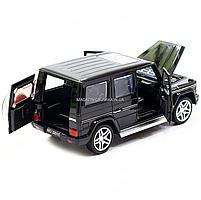 Игрушка машина Автопром Мерседес Бенц (Mercedes-Benz) Чёрный блестящий. Гелендваген (Гелик) (3201G), фото 7